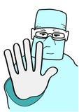 Le docteur arrête le geste Images libres de droits