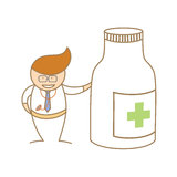 Le docteur parlent de la médecine Images stock