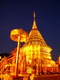 Le Doi jaune Suthep Temple Image stock