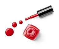 Le doigt de vernis à ongles composent le cosmétique de beauté Photo stock