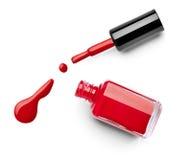 Le doigt de vernis à ongles composent le cosmétique de beauté Photographie stock