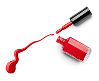 Le doigt de vernis à ongles composent le cosmétique de beauté Photos libres de droits