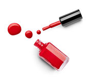 Le doigt de vernis à ongles composent le cosmétique de beauté Photographie stock libre de droits