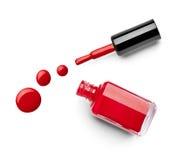 Le doigt de vernis à ongles composent le cosmétique de beauté Image stock