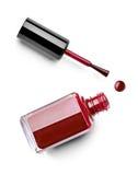 Le doigt de vernis à ongles composent le cosmétique de beauté Photos stock