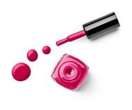 Le doigt de vernis à ongles composent le cosmétique de beauté Images libres de droits
