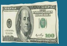 Le dollar aiment le drapeau ondulant dans le vent - le rendu 3d Photo stock