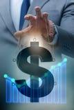 Le dollar américain dans le concept de taux de change flottant photographie stock