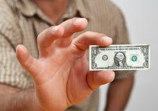 Le dollar craintif incroyable Images stock