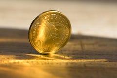 Le dollar est argent du monde d'échange Photo stock