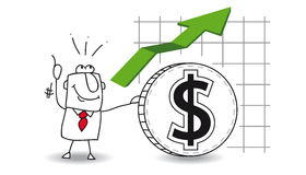Le dollar grandit illustration de vecteur