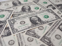 Le dollar note 1 dollar Images libres de droits