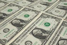 Le dollar note 1 dollar Image libre de droits