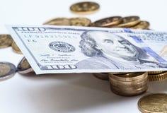 Le dollar prédomine au-dessus de l'euro Photographie stock libre de droits