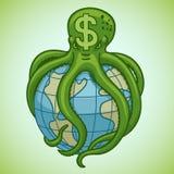 Le dollar a succédé le monde illustration de vecteur