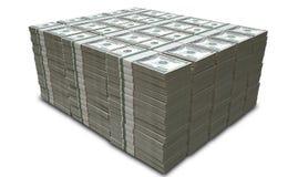 Le dollar US note la pile Photo libre de droits