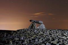 Le dolmen a appelé Chabola de la Hechicera, à Elvillar, Alava, Espagne Photographie stock
