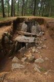Le dolmen font la vue de bandeau de Rapido Esposende, Portugal Photo stock