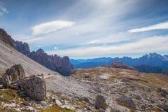 Le dolomia di Italien, Tirolo del sud e italien le alpi, il bello paesaggio della montagna in tempo di autunno Fotografia Stock