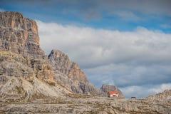 Le dolomia di Italien, Tirolo del sud e italien le alpi, il bello paesaggio della montagna, tre cime di lavaredo Immagine Stock Libera da Diritti