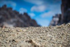 Le dolomia di Italien, Tirolo del sud e italien le alpi, il bello paesaggio della montagna, tre cime di lavaredo Fotografie Stock
