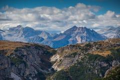 Le dolomia di Italien, Tirolo del sud e italien le alpi, il bello paesaggio della montagna, tre cime di lavaredo Immagini Stock Libere da Diritti