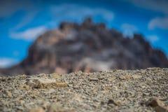 Le dolomia di Italien, Tirolo del sud e italien le alpi, il bello paesaggio della montagna, tre cime di lavaredo Fotografia Stock