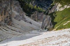 Le dolomia di Italien, Tirolo del sud e italien le alpi, il bello paesaggio della montagna, tre cime di lavaredo Fotografia Stock Libera da Diritti