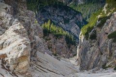 Le dolomia di Italien, Tirolo del sud e italien le alpi, il bello paesaggio della montagna, tre cime di lavaredo Immagine Stock