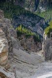 Le dolomia di Italien, Tirolo del sud e italien le alpi, il bello paesaggio della montagna, tre cime di lavaredo Immagini Stock