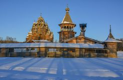 Le domaine Bogoslovka Église de l'intervention du béni image libre de droits
