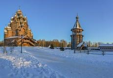 Le domaine Bogoslovka Église de l'intervention du béni images stock