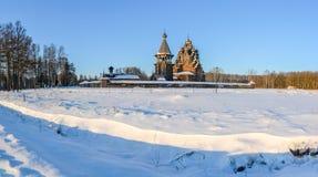 Le domaine Bogoslovka Église de l'intervention du béni photo stock