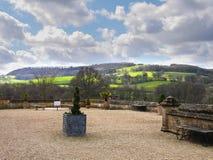 Le domaine fond le château de Sudeley près de Winchcombe Cotswolds photos libres de droits