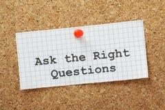 Le domande di destra Immagini Stock