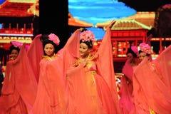 Le domestique-grand  de show†de scénarios d'échelle de Tang Dynasty le  de legend†de route Image libre de droits
