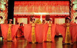 Le domestique-grand  de show†de scénarios d'échelle de Tang Dynasty le  de legend†de route Photographie stock libre de droits