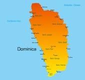 Le Dominica illustration stock