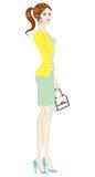 Le donne adattano, abbigliamento della primavera, integrale royalty illustrazione gratis