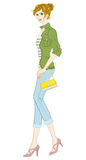 Le donne adattano, stile casuale, integrale illustrazione vettoriale