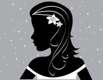 Le donne astratte amano l'illustrazione dei fiori   Immagini Stock