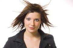 Le donne con in i capelli di volo Fotografie Stock Libere da Diritti