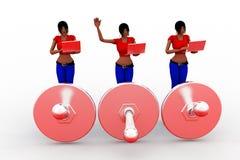 le donne 3d trovano l'errore Fotografia Stock Libera da Diritti