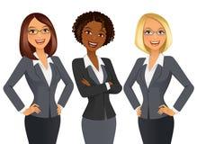 Le donne di affari… ed il vostro dito è su illustrazione di stock