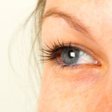 Le donne eye, primo piano, blu Fotografie Stock