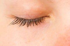 Le donne eye, primo piano, blu, strappo Immagini Stock Libere da Diritti