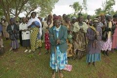 Le donne senza donne dei mariti che sono state ostracizzate dalla società o che hanno perso i loro mariti ed hanno soltanto stess Fotografia Stock Libera da Diritti