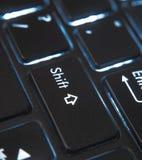Le dos a allumé haut proche de clavier Image libre de droits