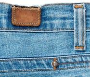 Le dos des jeans Image stock