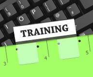 Le dossier de formation indique le dossier organisé et apprend le rendu 3d Photographie stock